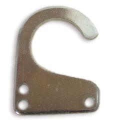 Anilla abierta. Anilla adaptable a muelles de tracción, para hacer la función de estirar sin fatigar ni desgastar el muelle..  Fabricado en hierro ST37 y recubrimiento Cincado.