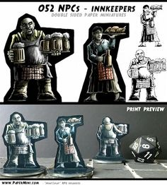 I design print&play double sided paper miniatures. Templates available on my patreon page. Dungeons And Dragons, My Design, Things To Think About, Miniatures, Paper Crafts, Templates, Colour, Play, Ideas