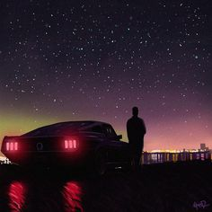 Retrowave Nights by tonyskeor on DeviantArt