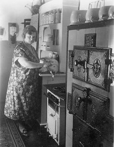 German kitchen interior, 1930s, much like the kitchens in Daisies Last Forever