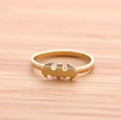 BATMAN ring(adjustable), in gold from fromthenature on Etsy. Saved to BIRD. Batman Ring, I Am Batman, Batman Stuff, Jewelry Box, Jewlery, Jewelry Accessories, Bling Jewelry, Gold Jewellery, Jewelry Rings