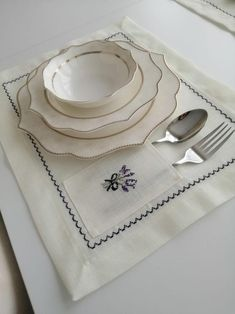 4 pieces of hand embroidered lavender placemat set- lavender cross stitch- purple flowered cross stitch placemat- purple christmas dinner Modern Placemats, Fabric Placemats, Table Runner And Placemats, Farmhouse Placemats, Grey Placemats, Gifts For Your Mom, New Home Gifts, House Gifts, Purple Christmas
