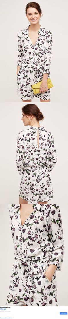Jumpsuits And Rompers: Nwt Anthropologie Floret Romper By Elevenses Size M Medium BUY IT NOW ONLY: $59.99 #priceabateJumpsuitsAndRompers OR #priceabate