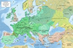 Europe AD 814 - at Charlemagne's death
