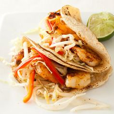 Shrimp Tacos with Citrus Slaw #Recipe. Check out facebook.com/hearstspecials for even more great recipes!