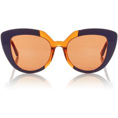 Marni Prisma Sunglasses found on Polyvore featuring accessories, eyewear, sunglasses, glasses, marni, marni eyewear, marni glasses, acetate glasses and acetate sunglasses