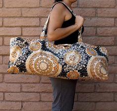 CELESTIAL Handmade Yoga or Pilates Tote Gym Bag by ChellaBellaDesigns, $38.00