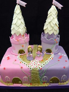 Twin Girl Birthday Cakes Kids Cakes Pinterest