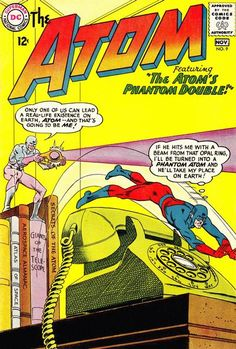 Very Good condition, and touch Read More for grading details for this Atom comic book, Atom by DC comics, and to knock down the total for this Atom comic, touch Read More. Graded Tears at staple Inside pages Flat Cover tears? Dc Comic Books, Vintage Comic Books, Comic Book Artists, Vintage Comics, Comic Book Covers, Comic Book Heroes, Comic Art, Atom Comics, Marvel Comics Superheroes