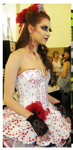 Queen Of Hearts Costume/Playing Card Dress