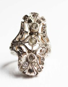Vintage Art Deco Ring / diamentdesigns on etsy