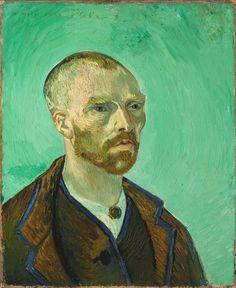 "Vincent van Gogh -- ""Self-Portrait (Dedicated to Paul Gauguin)"", September 1888. Oil on canvas, 61.5 x 50.3 cm. Harvard Art Museums, Cambridge MA."
