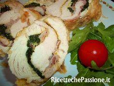 Girelle  di Tacchino con Spinaci e Crudo un secondo piatto leggero originale e gustoso!!! La ricetta completa la trovi sul sito... basta un click