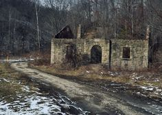 magoffin co ky pictures | Abandoned W.P.A. School Building - Magoffin County, KY