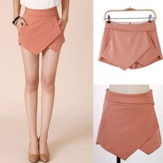 Hot Fashion 4 Colors Women Asymmetric Shorts Skirts XS S M L XL Tiered Irregular Zipper Trousers Culottes Mini Short Skirts Short Skirts, Mini Skirts, Diy Clothes Design, Fashion Pants, Fashion Outfits, Culotte Shorts, Travel Dress, Skirt Outfits, Clubbing Outfits