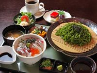 CentralHotelOkayama セントラルホテル岡山 Honoka ほのか lunch  茶そば・海鮮丼定食