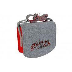 Etoi Design - filcowa torebka z czerwonymi akcentami