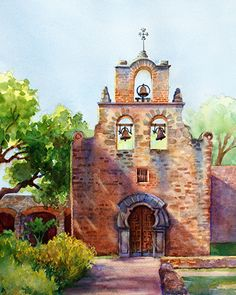Mary Shepard   WATERCOLOR   Mission Espada