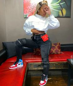 Source by cassmelanin Outfits baddie Swag Outfits For Girls, Tomboy Outfits, Chill Outfits, Cute Swag Outfits, Dope Outfits, Trendy Outfits, Black Women Fashion, Teen Fashion, Fashion Outfits