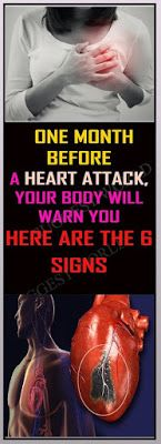 HERE ARE THE 6 SIGNS ONE MONTH BEFORE A HEART ATTACK, YOUR BODY WILL WARN YOU