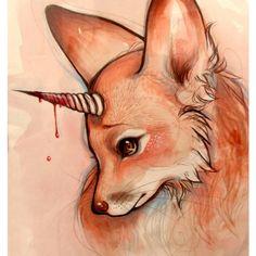 Foxicorn print