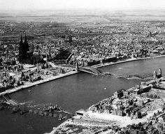 Cologne 1945 . destruction after war .