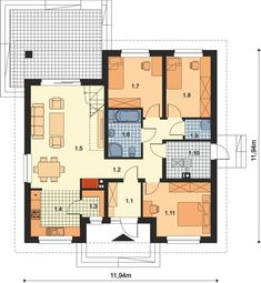 DOM.PL™ - Projekt domu ARP TANIS CE - DOM AP1-69 - gotowy koszt budowy 3d House Plans, Interior Decorating, Interior Design, Design Case, Building Plans, House In The Woods, Better Homes, Interior And Exterior, Tiny House