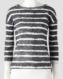 Petite Striped French Terry Top. Love the stripe on this with jeans or a black skirt.