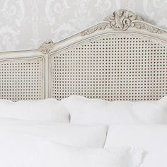 Buy the beautifully designed French Grey Painted Rattan Bed, by The French Bedroom Company. Ikea, Rattan Bed Frame, 25 Beautiful Homes, Super King Size Bed, Bed Linen Design, Headboards For Beds, Grey Paint, French Decor, Cool Beds