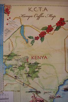 Map of Kenya coffee | by Tim Wendelboe #kava