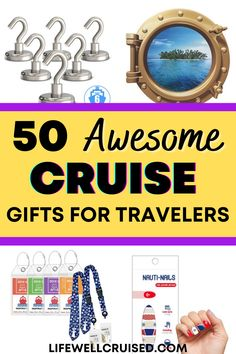 The holidays are coming! If you're looking for gifts for your cruise traveler friends, this list of 50 cruise essentials and unique gifts for travelers is bound to have something you love! #christmasgifts #travelgifts #cruise #cruiseessentials #travelitems