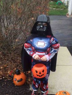 Check out the iron vader pumpkin too. 12 Kids Who Probably Don't Understand Their Halloween Costumes - MTV