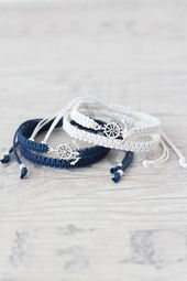 Anchor bracelet for men and women Matching couple bracelets Macrame bracelet Friendship brace. - Anchor bracelet for men and women Matching couple bracelets Macrame bracelet Friendship bracelet Co - Bracelet Couple, Matching Couple Bracelets, Matching Couples, Bracelets For Men, Bracelet Set, Anchor Bracelets, Gold Bracelets, Diamond Earrings, Couples Assortis