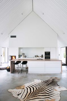 Kitchen in an old farm turned into modern home