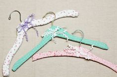 DIY: Fabric-wrapped hangers