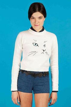 um, yes, please... kitty sweater by Opening Ceremony