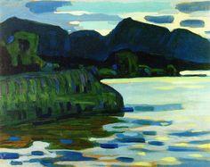 "alongtimealone: "" Wassily Kandinsky (1866-1944) Murnau, Coastline II (1908) """