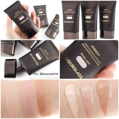 Another #SneakPeek & #Swatches  @hourglasscosmetics NEW Ambient - Light Correcting Primer A collection of light correcting primers that neutralize brighten and soften light refining the appearance of the complexion for a soft subtle glow. These weightless oil free primers blur smooth and perfect the skin as the first step in creating your perfect light.  In shades:  Luminous Light  Mood Light  Dim Light  Will be available soon @sephora / available now for pre-order @barneysny $44 Each  What…