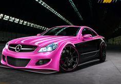 Pink Mercedes SL63 #CarFlash #FightBreastCancer