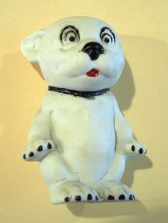 Antique Bonzo Dog Figurine George E Studdy Hand Painted Germany Bisque Porcelain