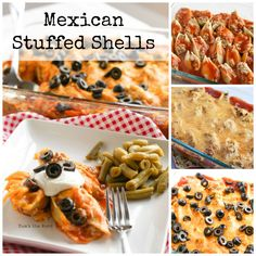 Mexican Stuffed Shells - If you love Mexican food and love food that reheats well for leftovers, then try these simple, yet delicious Mexican Stuffed Shells. A perfect dish!