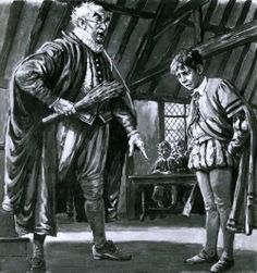 """""""Shakespeare Being Disciplined As A Boy"""" by Cecil Langley Doughty (1913-1985)"""