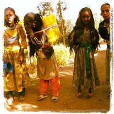 With clean water, they can be in school instead <3