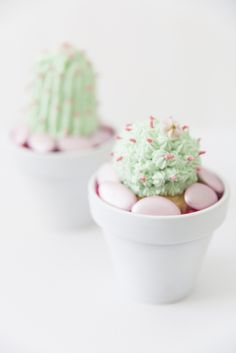 DIY Frosted Cactus Cupcakes | Best Friends For Frosting