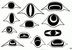 Once you have selected your northwest Native American spirit animal, here are some links for images. Notice the use of ovoid and U-shapes: Key symbols of West Coast Native Art Click on the small pi…