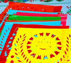Papel Picado banner 18 feet long, colorful paper or plastic banner bunting garland LARGE, fiesta decor, Mexican party, birds, flowers, sun