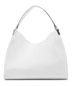 Loving this emilie m. White Ostrich Irene Shoulder Bag on #zulily! #zulilyfinds