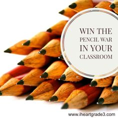 """Are your students losing their pencils all the time? Are you tired of having to replace pencils in your classroom? Make your students """"budget"""" their pencils! Use these tips to help you win the pencil war in your classroom. 3rd Grade Classroom, Third Grade Math, School Classroom, Grade 3, Classroom Decor, Future Classroom, School Teacher, School Fun, Pencil Management"""
