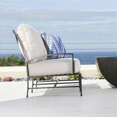 Aluminum Loveseat | Terrace Collection | Thos. Baker Sunbrella Cushions,  Love Seat, Terrace