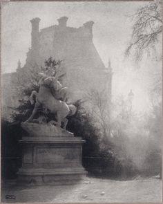 Vue du Pavillon de Flore. vers 1900. Robert Demachy